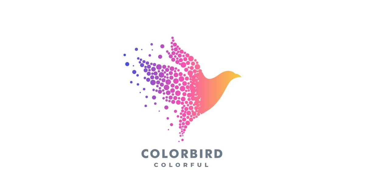 Download Abstract Bird Colorful Logo by ivan_artnivora