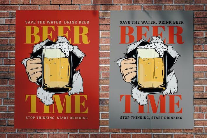 dépliant bière