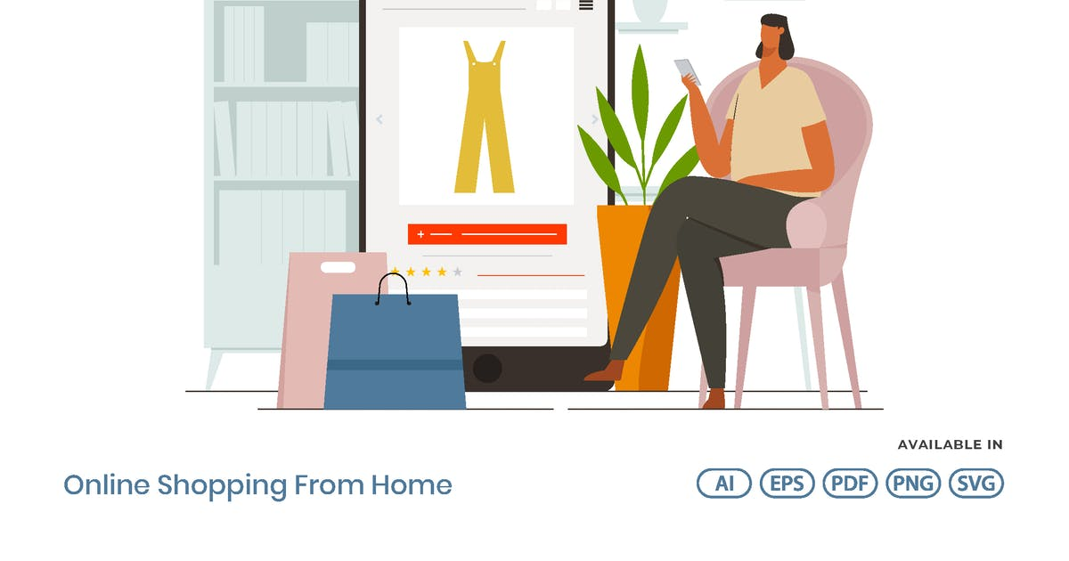 Download Online Shopping From Home by visuelcolonie