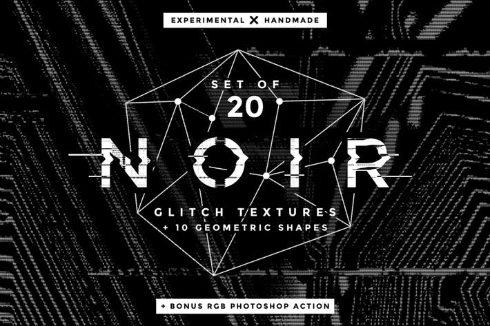 Thumbnail for Noir Glitch Textures and Shapes