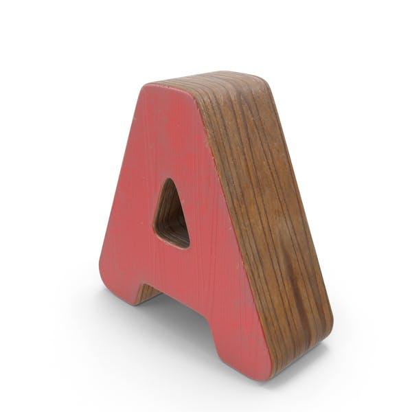 Una madera con pintura