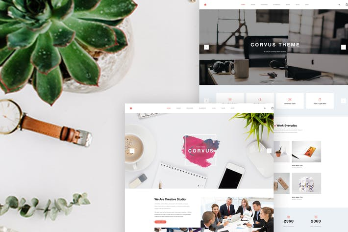 Thumbnail for Creative Company; Agency Website PSD