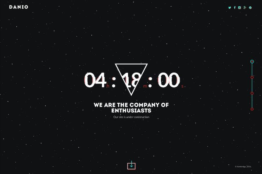 Danio — Coming Soon & Maintenance Mode Template