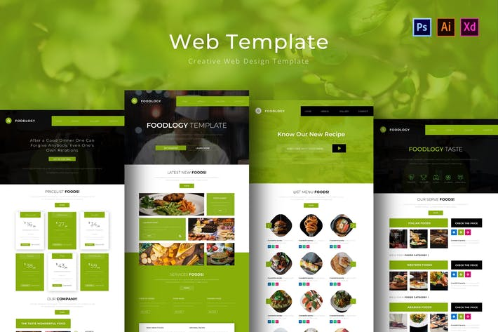 Thumbnail for Foodlogy Web Template