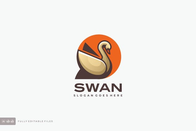 Swan Simple Logo template
