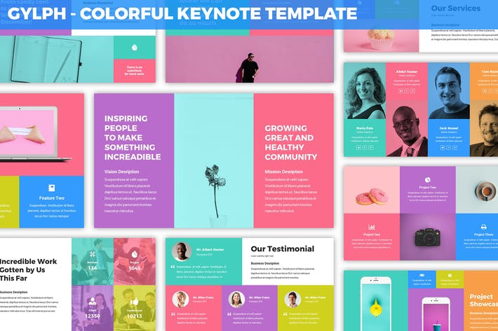 Thumbnail for Glyph - Colorful Keynote Template