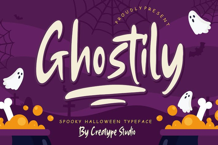 Thumbnail for Ghostily Spooky Halloween Typeface