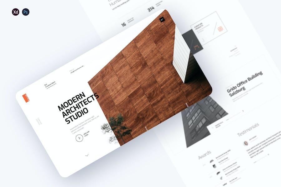 Mayarc - Architecture Studio landing page