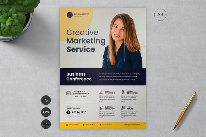 Thumbnail for Business Flyer Template 09 - Slidewerk