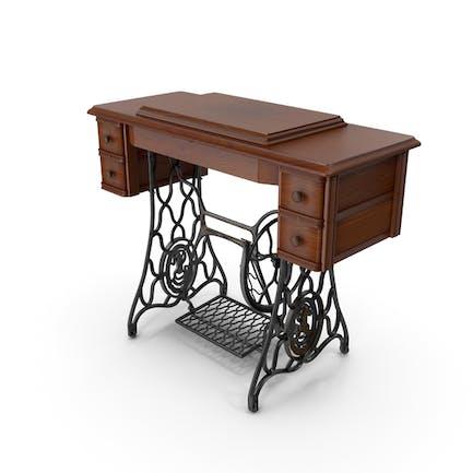 Антикварный шкаф швейной машины