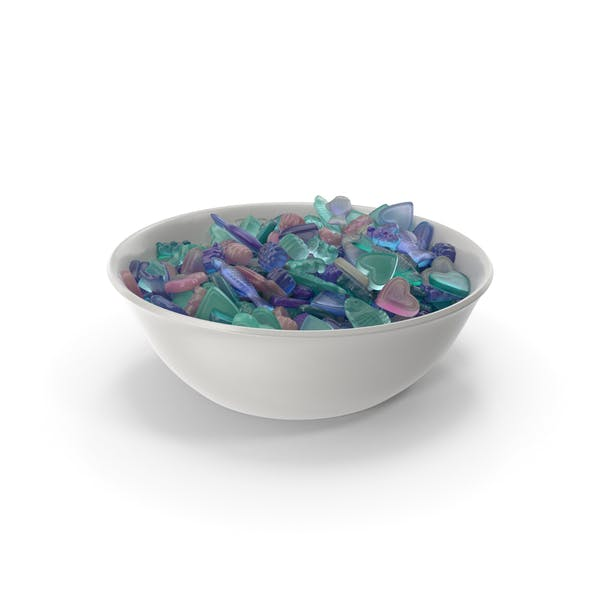 Thumbnail for Bowl with Mixed Gummy Candy