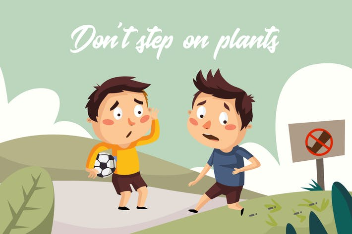 Thumbnail for Dont step plants - Illustration