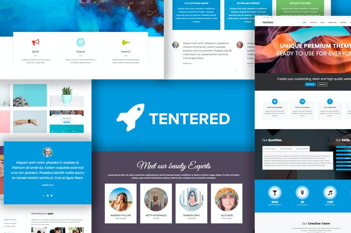 Cover Image For Tentered - Multi Purpose WordPress Theme