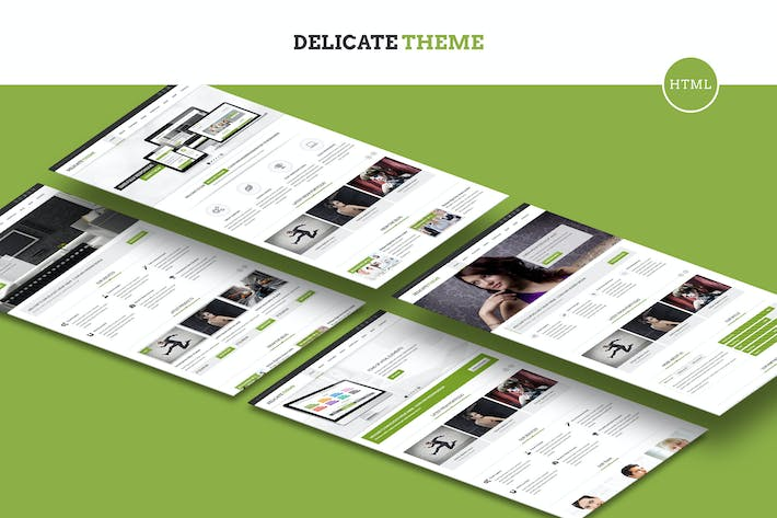 Thumbnail for Delicate - Responsive Multipurpose HTML5 Template