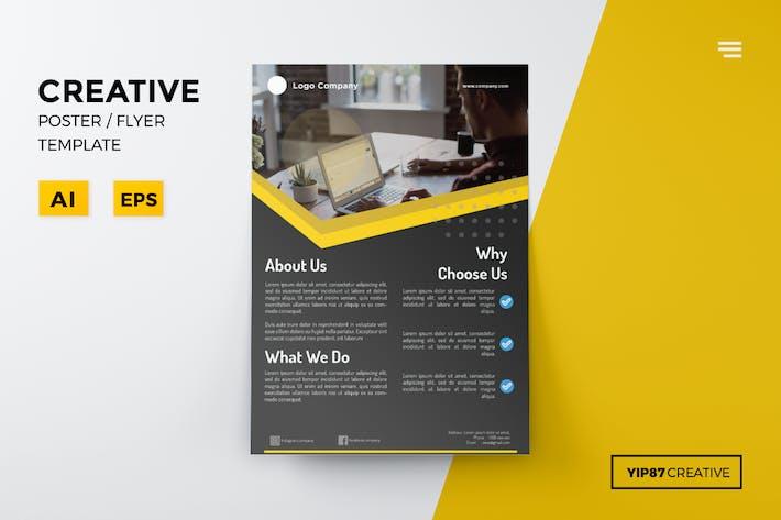 Download Popular Portrait Vector Layered Flyer Graphic - Adobe illustrator flyer template