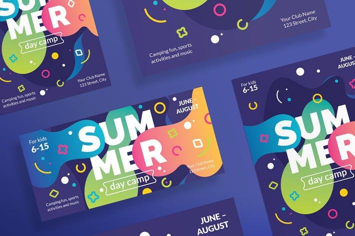 Thumbnail for Summer Camp Flyer Template