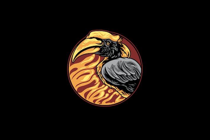 Thumbnail for Hornbill Vogel Illustration