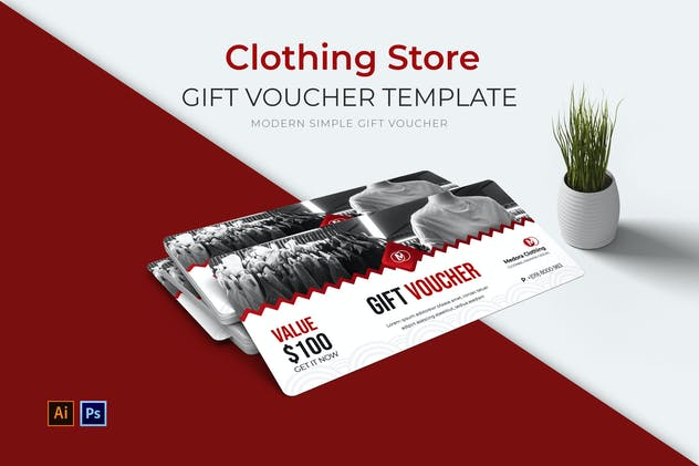 Clothing Store Gift Voucher