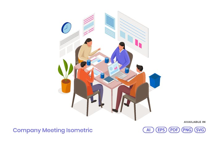 Thumbnail for Company Meeting Isometric