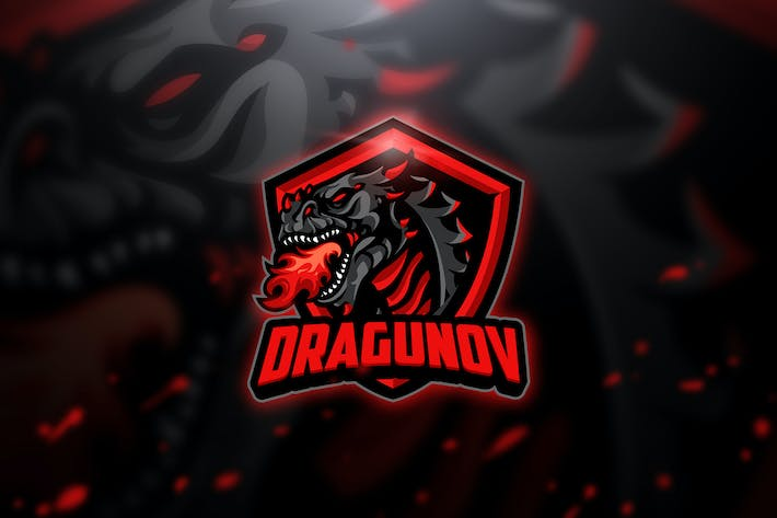 Thumbnail for Dragunov - Mascot & Esport Logo