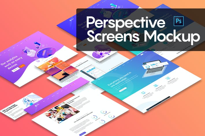 Thumbnail for Perspective Screens Mockup
