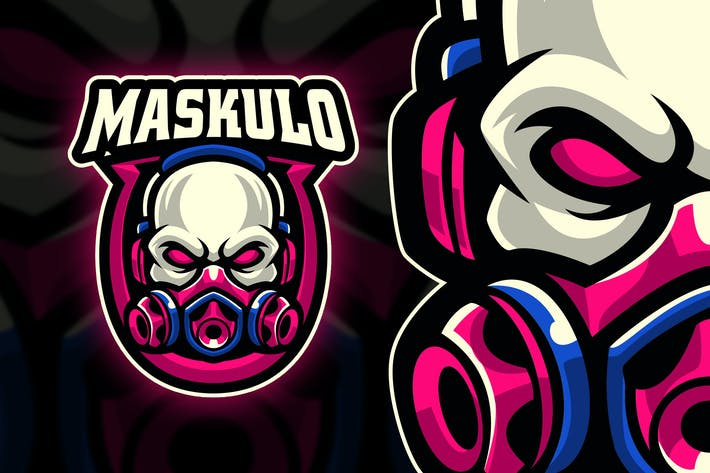 Thumbnail for Maskulo Esport and Sport Logo Template