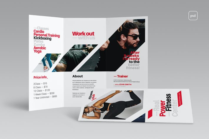 Thumbnail for Fitness Tri-Fold Brochure