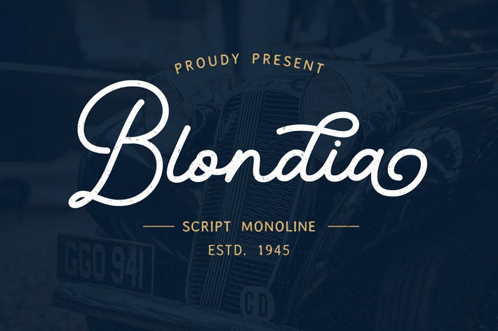 Thumbnail for Blondia - Elegante escritura monolina vintage