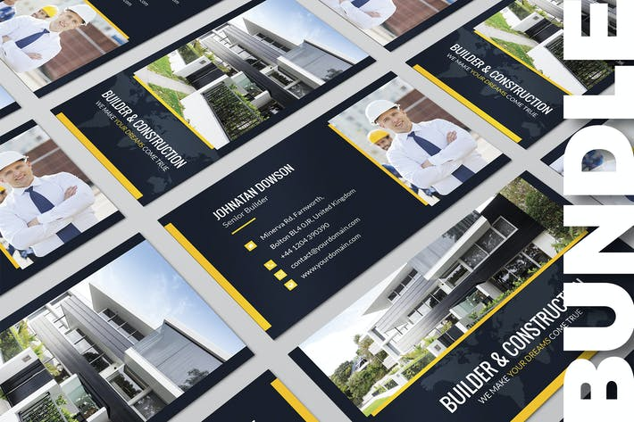 Thumbnail for Business Card – Builder Bundle 2 in 1