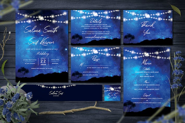 Cover Image For Night Wedding Invitation