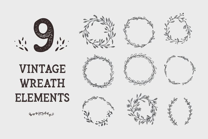 Thumbnail for 9 Wreath Graphic Design Elements