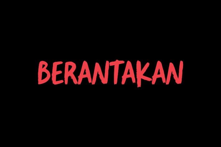 Thumbnail for Tipo de letra del cepillo Berantakan