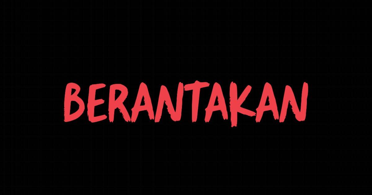 Download Berantakan Brush Typeface by Holismjd