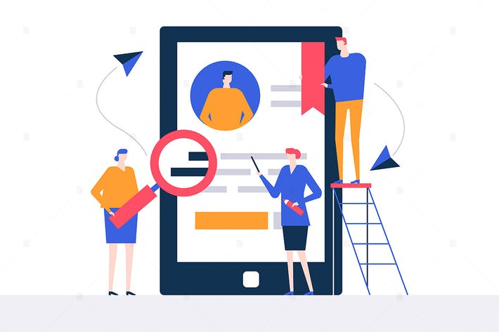 Thumbnail for HR management - flat design style illustration