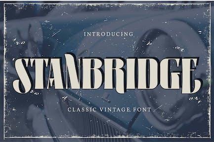 Standbridge   Classic Vintage Font