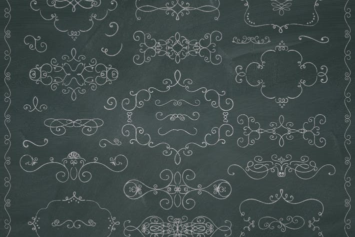 Thumbnail for High res PNG Chalk Drawing Elements