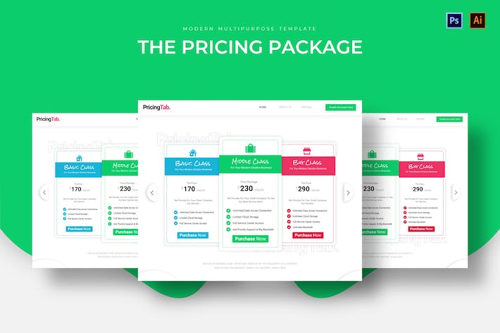 Thumbnail for Pricing Package Pricing Table