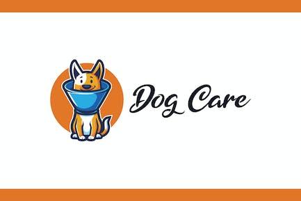 Cartoon Dog With Buster Collar Mascot Logo