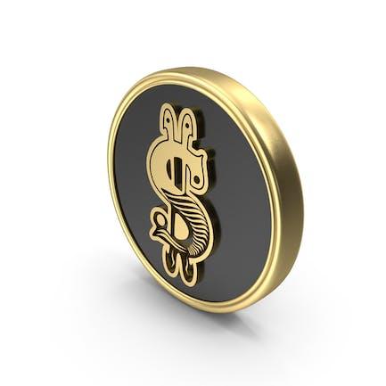 Dollar symbol style Logo Coin