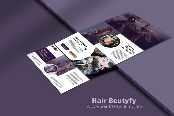 Thumbnail for HAIR BEUTIFY - Powerpoint Templates