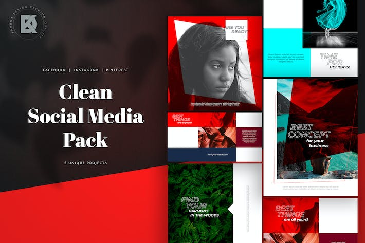 Thumbnail for Clean Social Media Pack