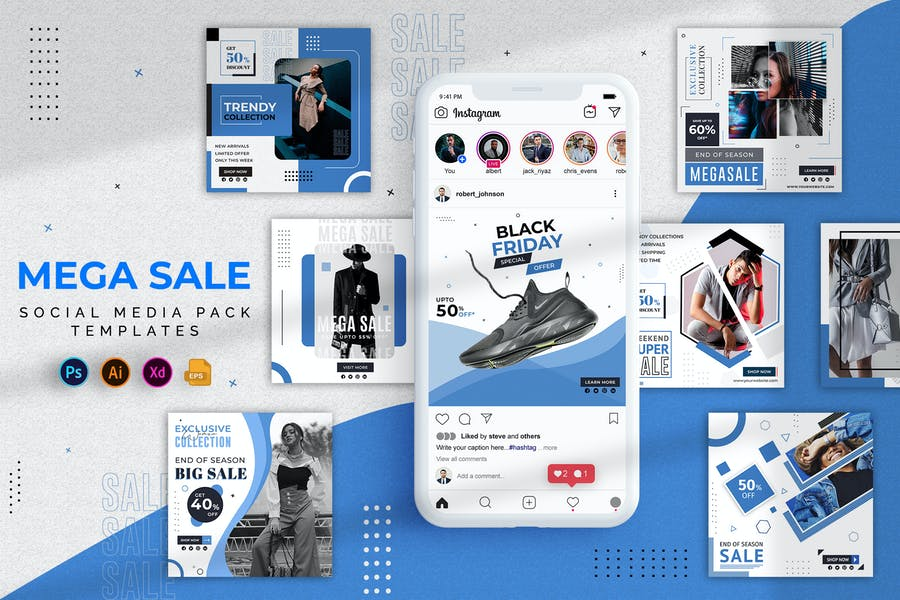 Sale Social Media Instagram Posts Template