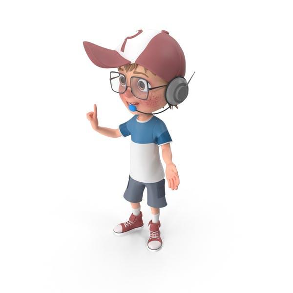 Cartoon Boy Support