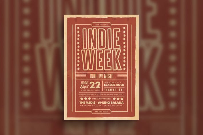 Thumbnail for Indie Week Event Flyer