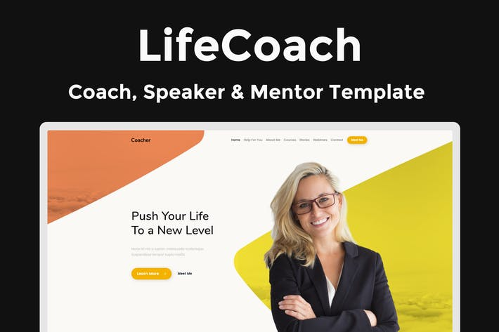 Cover Image For LifeCoach - Coach, Speaker & Mentor Template