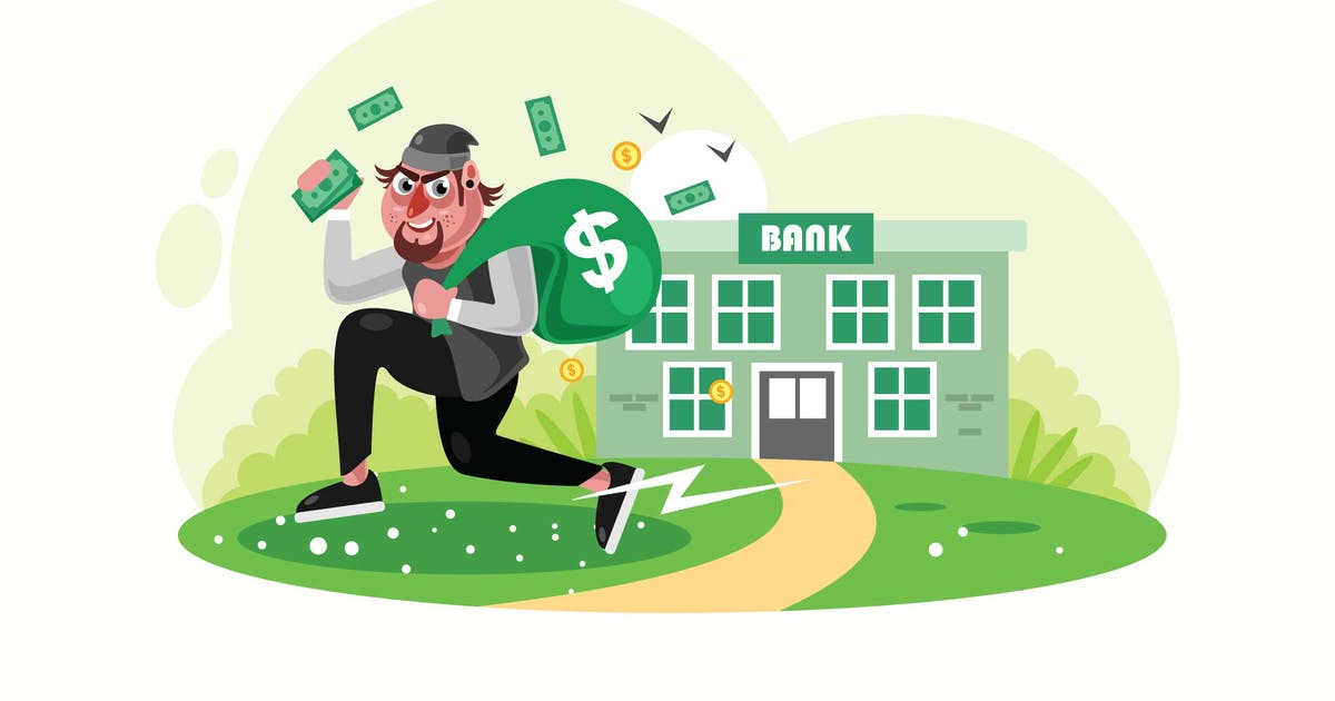 Download Bank Robbers Run Away with Money Bags by IanMikraz