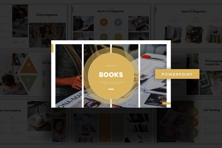 Thumbnail for Books - Powerpoint Template