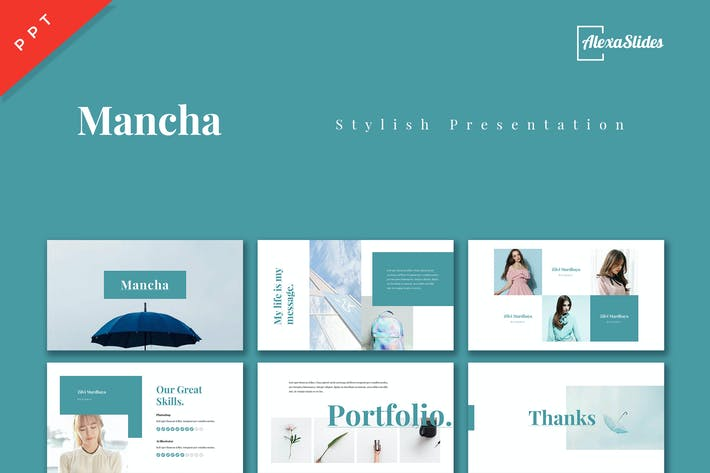 Thumbnail for Mancha - Stylist Powerpoint Presentation Template