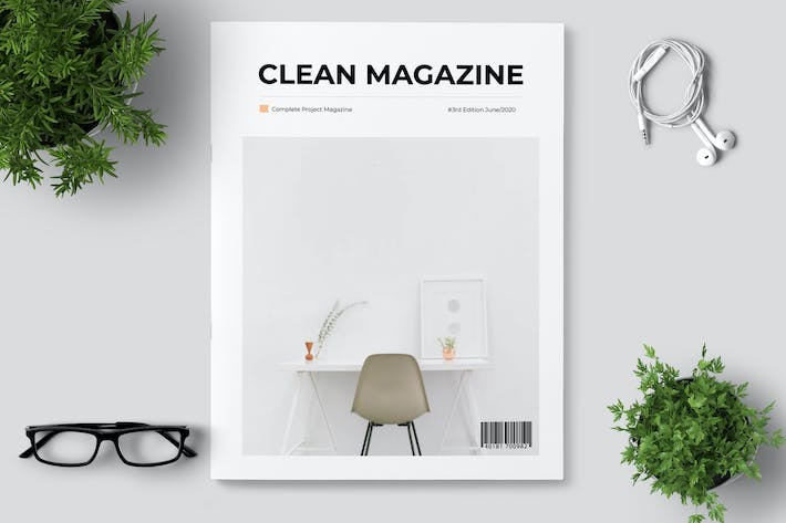 Thumbnail for Clean Minimal Magazine Design