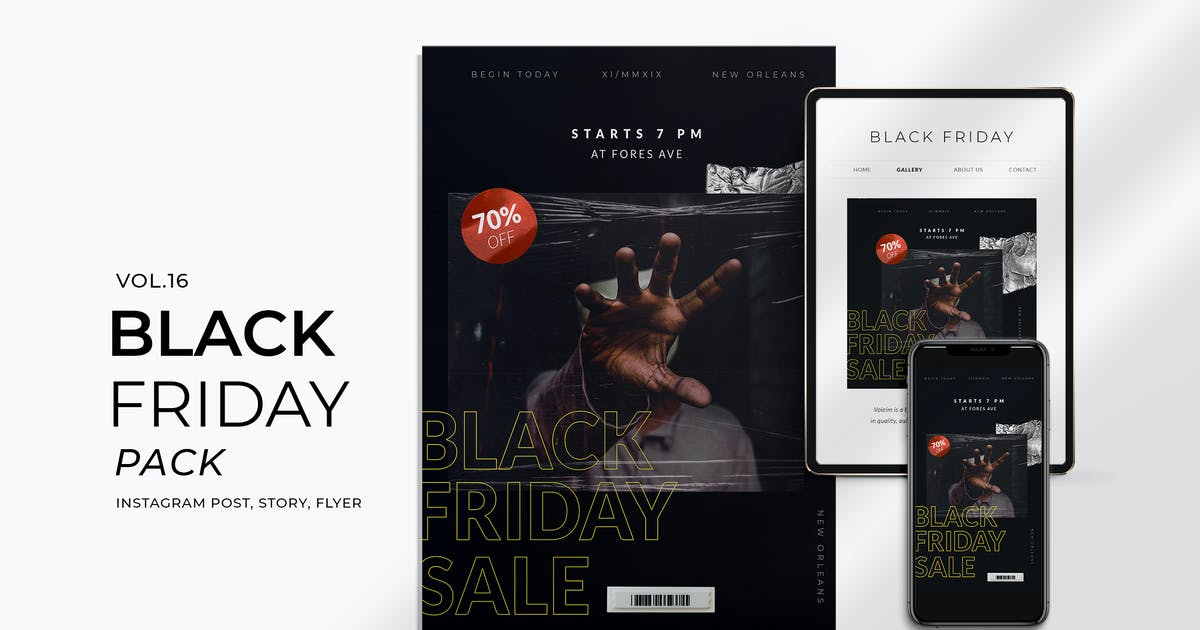 Download Black Friday Plastic Flyer and Instagram Vol. 16 by eviory